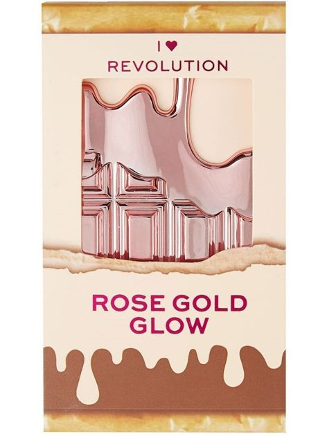 I Heart Revolution Mini Chocolate Palette Mini Paletka rozświetlaczy Rose Gold Glow 2.7g