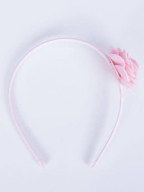INCA Opaska do włosów jasnoróżowa z ozdobną różą                              zdj.                              2