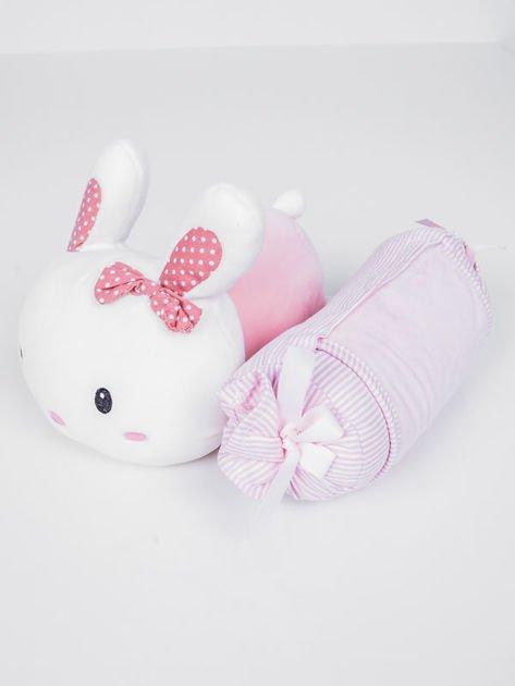 INCA Poduszka podróżna z króliczkiem przytulanką. Bardzo miła w dotyku.                              zdj.                              3