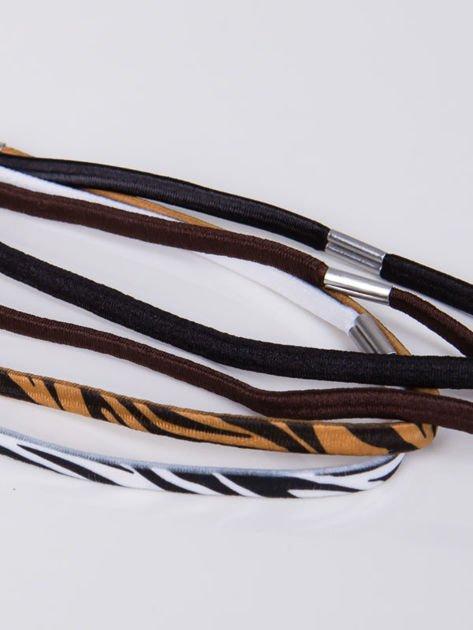 INCA Zestaw 4 szt. elastycznych opasek do włosów                              zdj.                              2