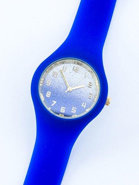 JELLY chabrowy zegarek damski z tarczą glitter ombre