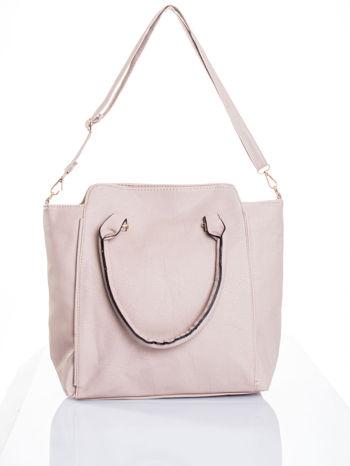 Jasnobeżowa torba shopper bag                                  zdj.                                  6
