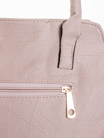 Jasnobeżowa torba shopper bag                                  zdj.                                  8