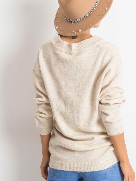 Jasnobeżowy sweter Chill                              zdj.                              2