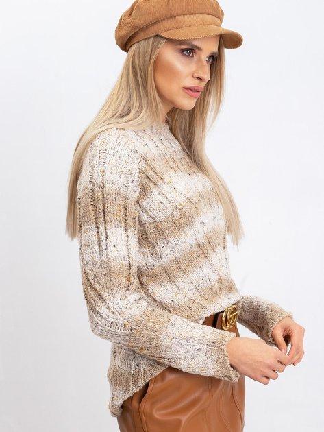 Jasnobeżowy sweter Fantasy                              zdj.                              3