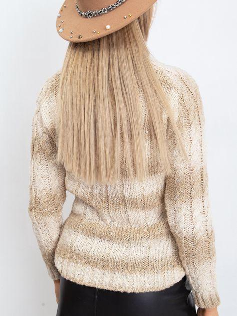 Jasnobeżowy sweter Hana                              zdj.                              2