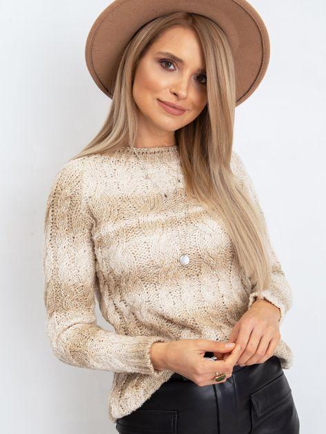 Jasnobeżowy sweter Hana                              zdj.                              1