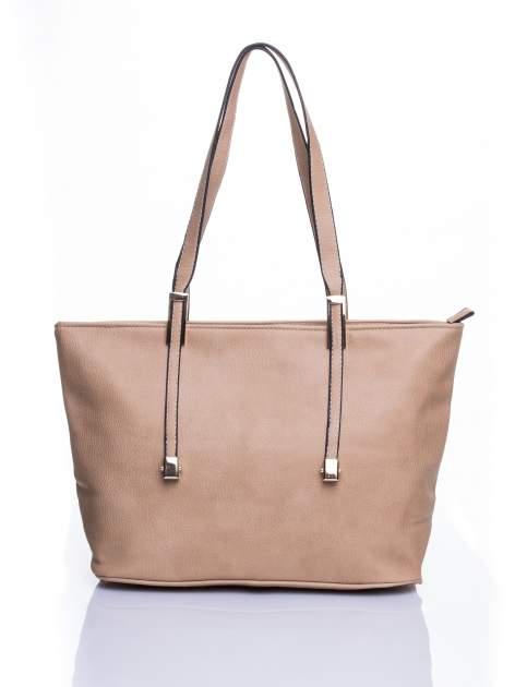Jasnobrązowa prosta torba shopper bag