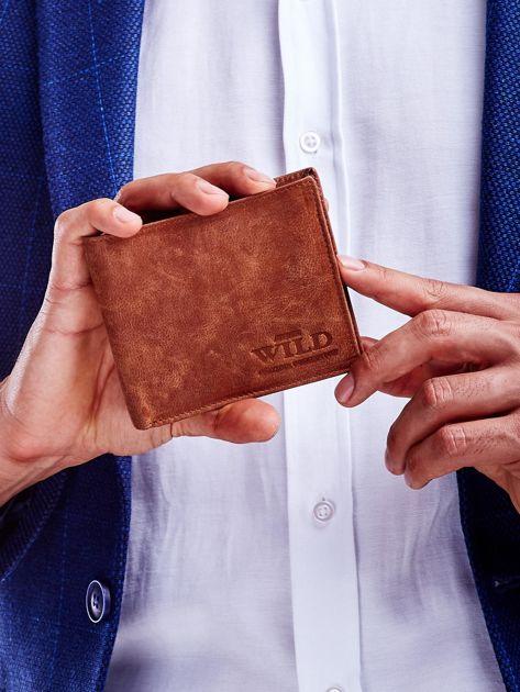 Jasnobrązowy miękki portfel męski ze skóry naturalnej                               zdj.                              1