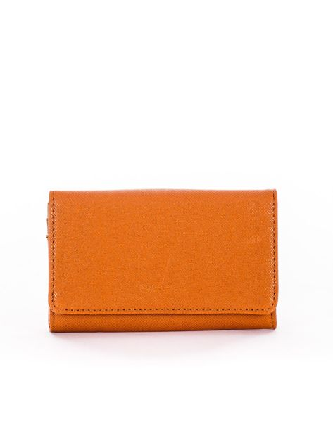Jasnobrązowy portfel damski z ekoskóry