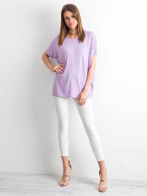 Jasnofioletowa bluzka Oversize                              zdj.                              4