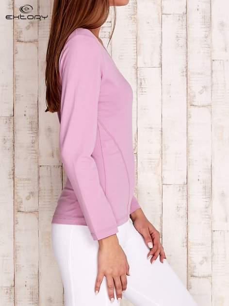 Jasnofioletowa bluzka sportowa basic PLUS SIZE                                  zdj.                                  3