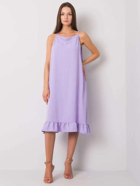 Jasnofioletowa sukienka na ramiączkach Simone