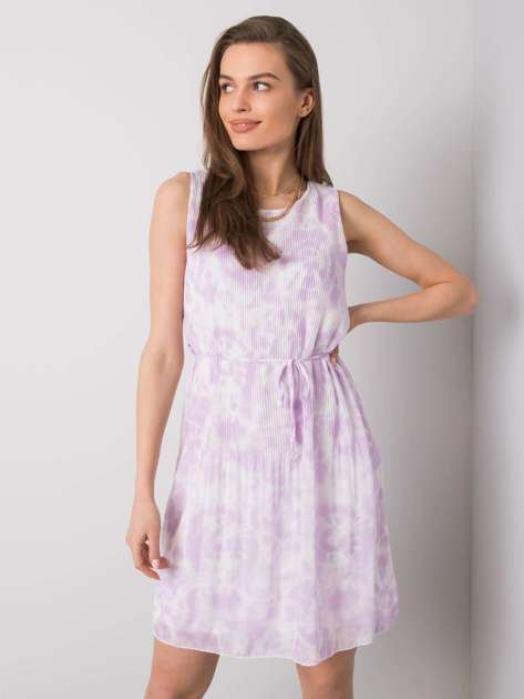 Jasnofioletowa sukienka tie-dye Marina SUBLEVEL