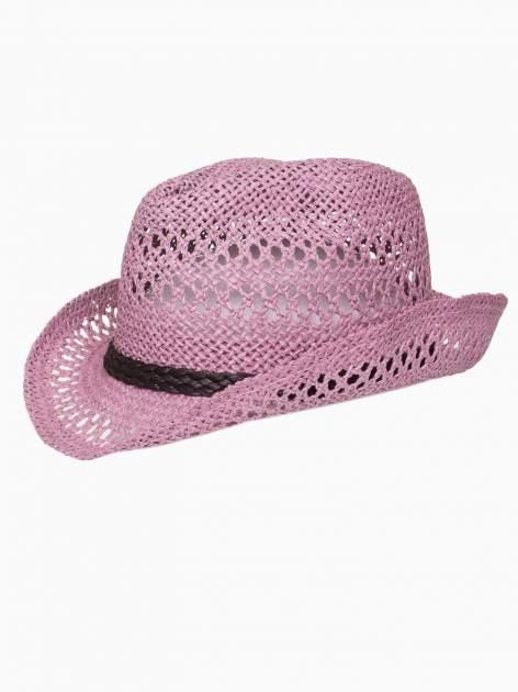 Jasnofioletowy damski kapelusz kowbojski z ciemną plecionką                                  zdj.                                  7