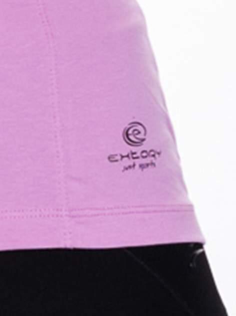 Jasnofioletowy damski t-shirt sportowy basic                                  zdj.                                  4