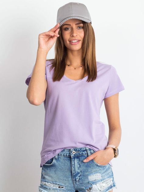 Jasnofioletowy t-shirt Square