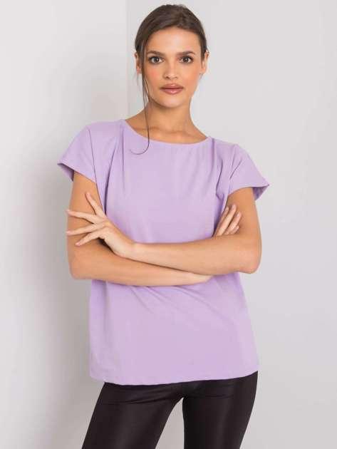 Jasnofioletowy t-shirt jednokolorowy Nadia