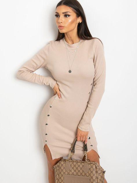 Jasnokawowa sukienka Fabulous                              zdj.                              1