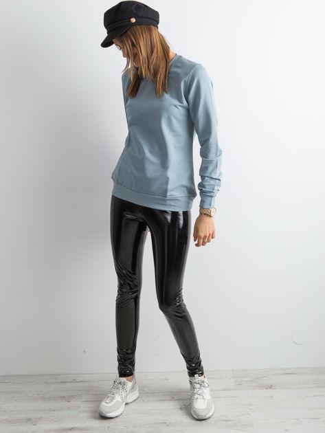 Jasnoniebieska bluza damska basic                              zdj.                              4