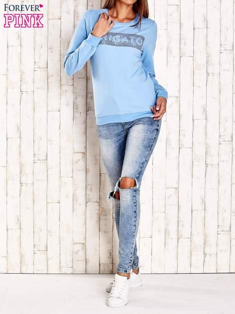 Jasnoniebieska bluza z napisem ARIGATO                                  zdj.                                  4