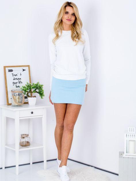 Jasnoniebieska dresowa spódnica mini                              zdj.                              5