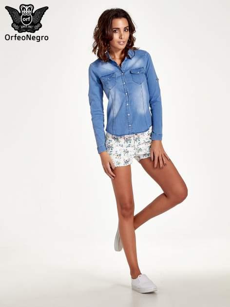 Jasnoniebieska jeansowa koszula z cieniowaniem                                  zdj.                                  8