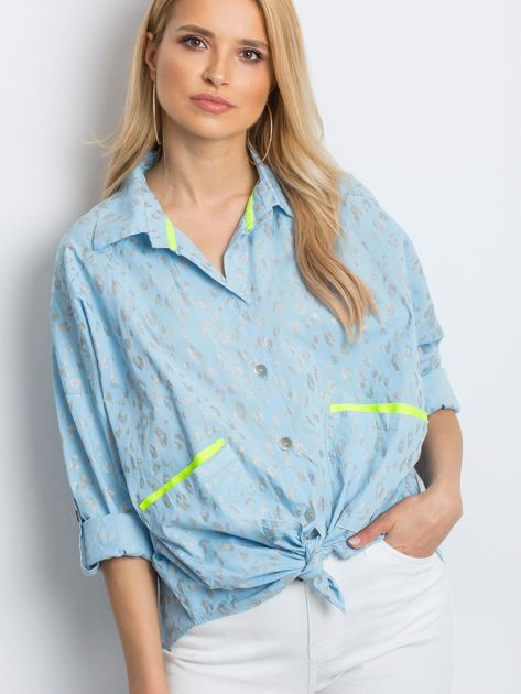Jasnoniebieska koszula Stylish                              zdj.                              1