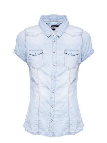 Jasnoniebieska koszula jeansowa z krótkim rękawem                                  zdj.                                  1
