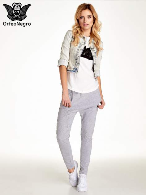 Jasnoniebieska kurtka jeansowa damska marmurkowa Jasnoniebieska kurtka jeansowa damska marmurkowa z kieszeniami                                  zdj.                                  7