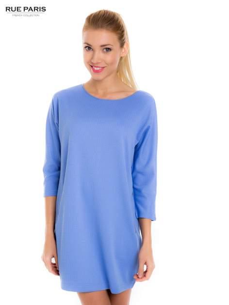Jasnoniebieska prosta sukienka                                  zdj.                                  1