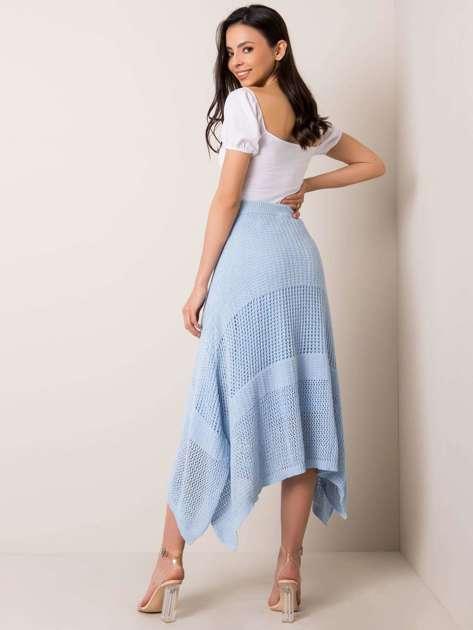 Jasnoniebieska spódnica Promise RUE PARIS