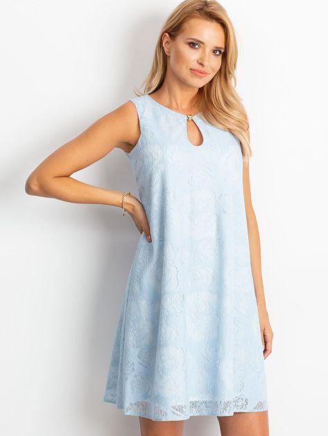 Jasnoniebieska sukienka Give                              zdj.                              3