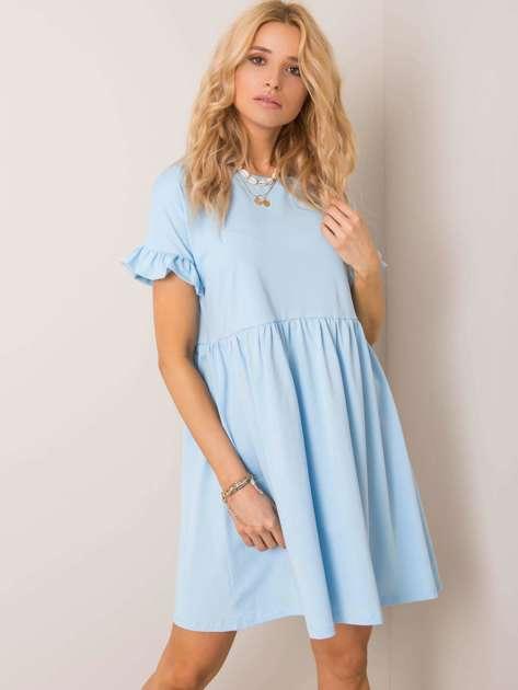 Jasnoniebieska sukienka Marietta RUE PARIS