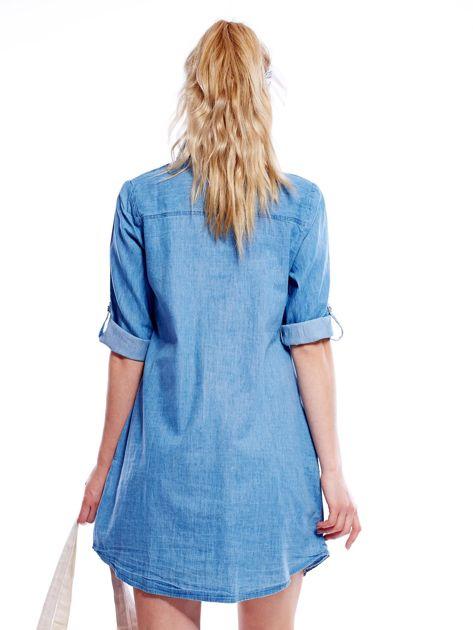 Jasnoniebieska sukienka z kołnierzykiem                              zdj.                              5