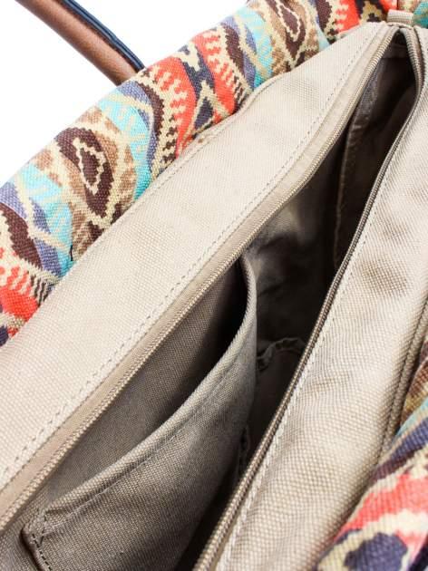 Jasnoniebieska torba gumowa z motywem azteckim                                  zdj.                                  9