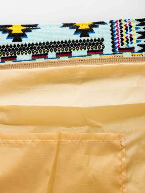 Jasnoniebieska torba plażowa w azteckie wzory                                  zdj.                                  9