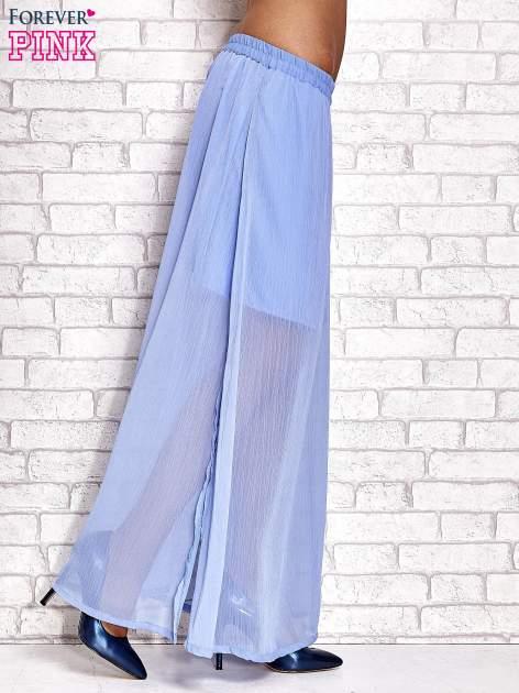 Jasnoniebieska transparentna spódnica maxi                                  zdj.                                  3