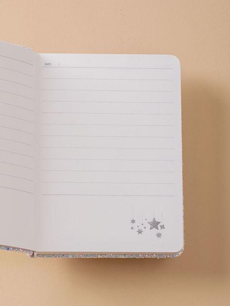 Jasnoniebieski brokatowy notes                              zdj.                              2