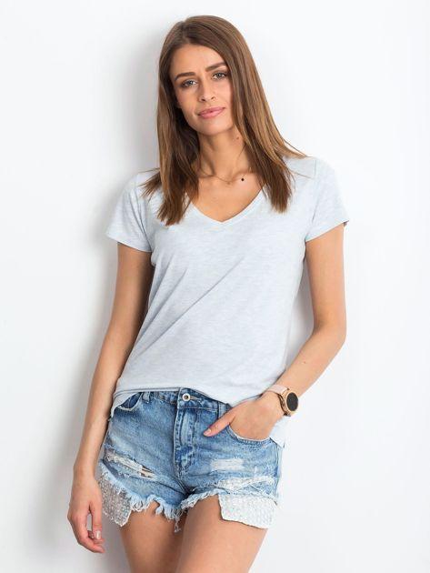 Jasnoniebieski melanżowy t-shirt Square