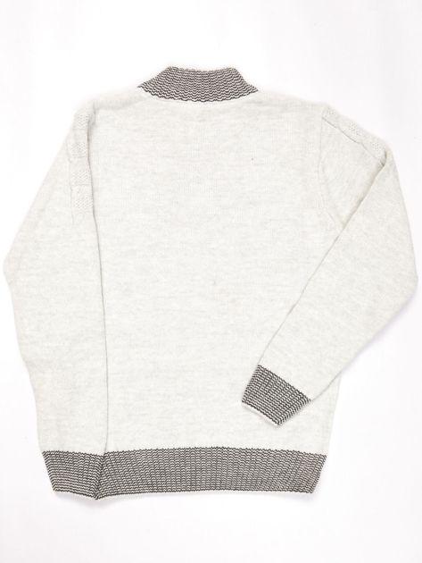 Jasnoniebieski sweter dla chłopca w warkocze                              zdj.                              2