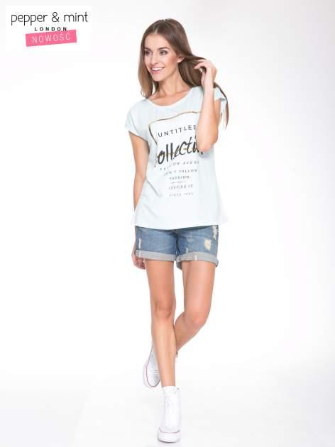 Jasnoniebieski t-shirt z nadrukiem UNTITLED COLLECTION                                  zdj.                                  5