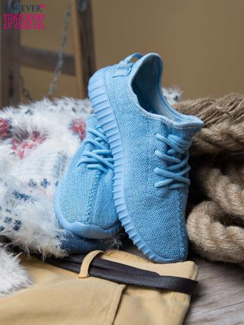 Jasnoniebieskie buty sportowe z tkaniny textile Be Active z uchwytem z tyłu                                  zdj.                                  1