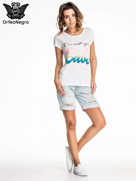 Jasnoniebieskie jeansowe szorty a'la bermudy                                  zdj.                                  4