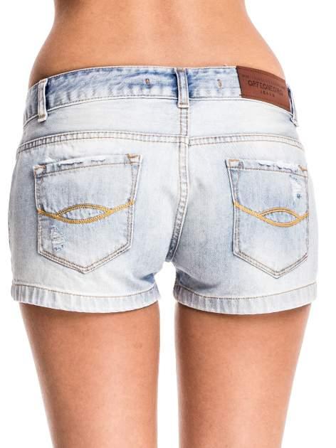 Jasnoniebieskie jeansowe szorty z wytarciami                              zdj.                              2