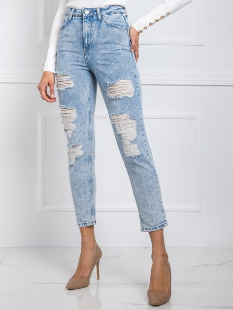 Jasnoniebieskie jeansy Crush RUE PARIS