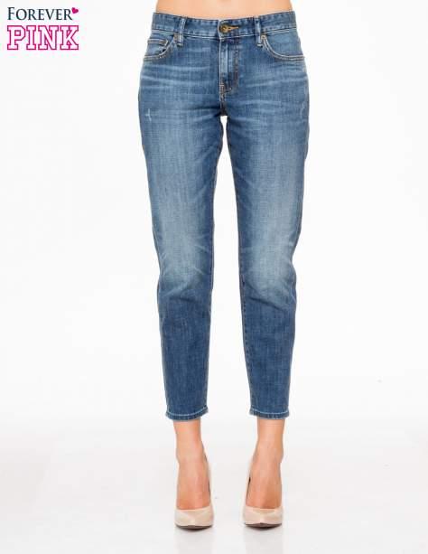 Jasnoniebieskie spodnie girlfriend jeans z cieniowaniem                                  zdj.                                  1