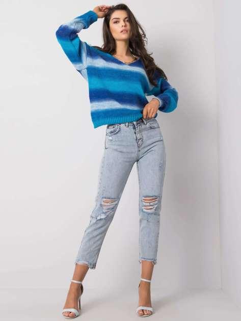 Jasnoniebieskie spodnie mom fit Callie RUE PARIS