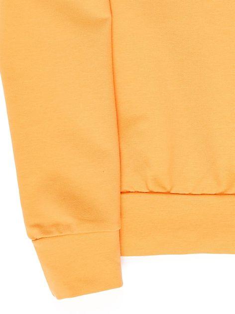 Jasnopomarańczowa bluza młodzieżowa                              zdj.                              4
