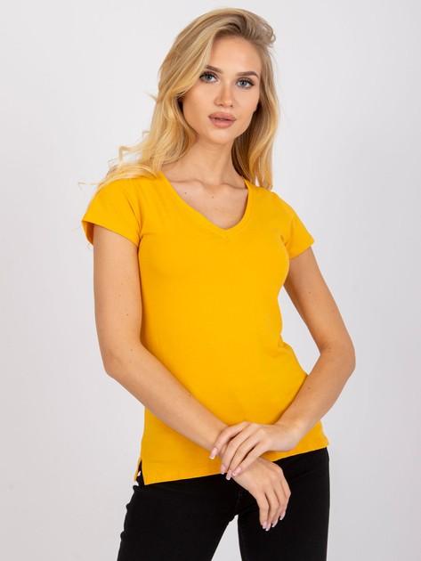 Jasnopomarańczowy t-shirt Square                              zdj.                              2
